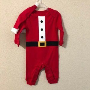 Carter's Santa Suit Onesie & Hat Christmas Set NWT